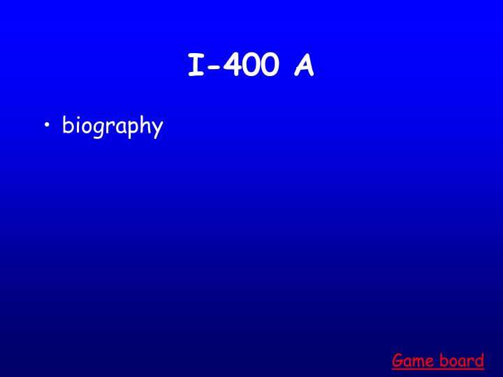 I-400 A