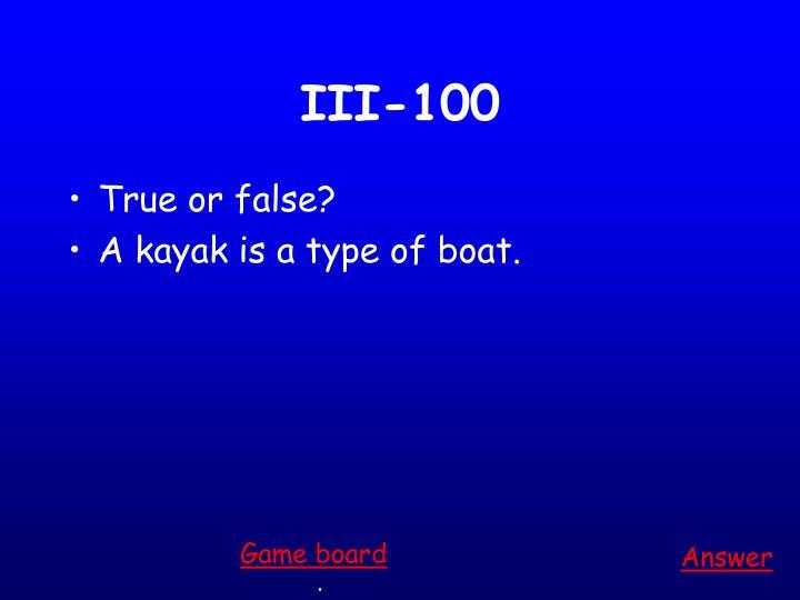 III-100