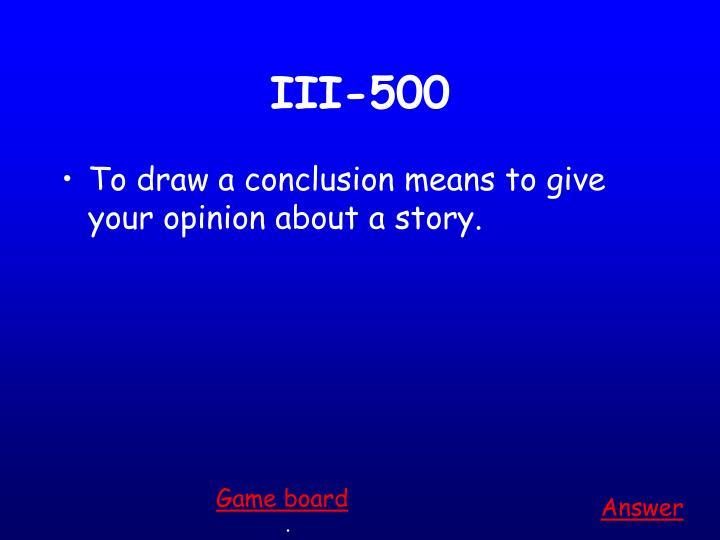 III-500