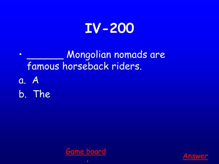 IV-200