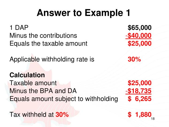 Answer to Example 1