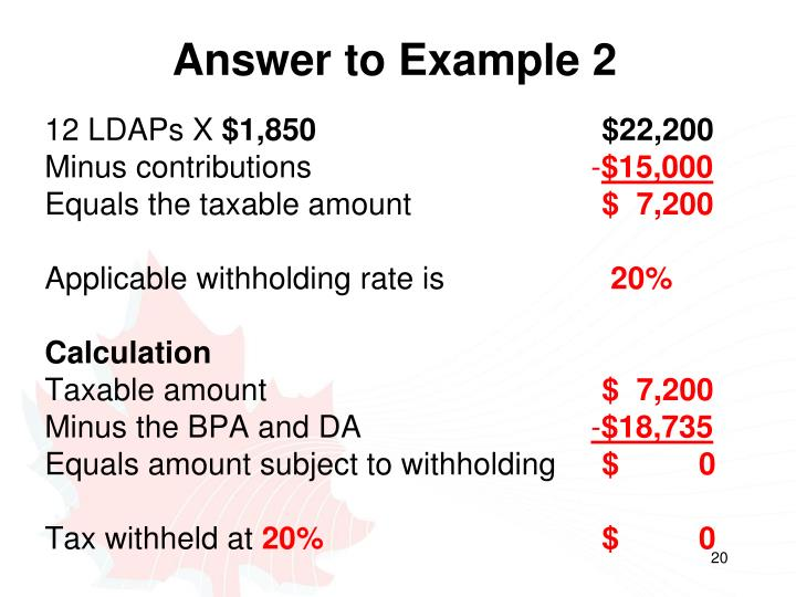 Answer to Example 2