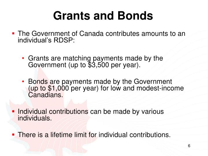 Grants and Bonds