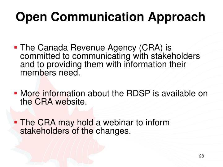 Open Communication Approach