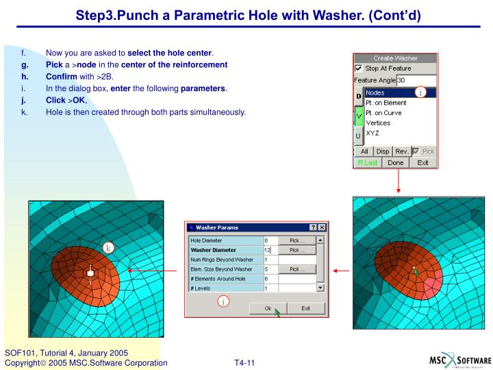 Step3.Punch a Parametric Hole with Washer. (Cont'd)
