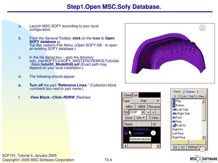 Step1.Open MSC.Sofy Database.
