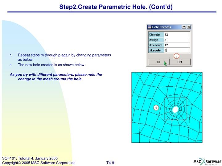Step2.Create Parametric Hole. (Cont'd)