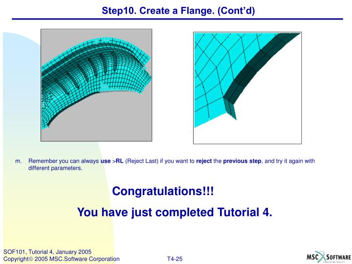 Step10. Create a Flange. (Cont'd)