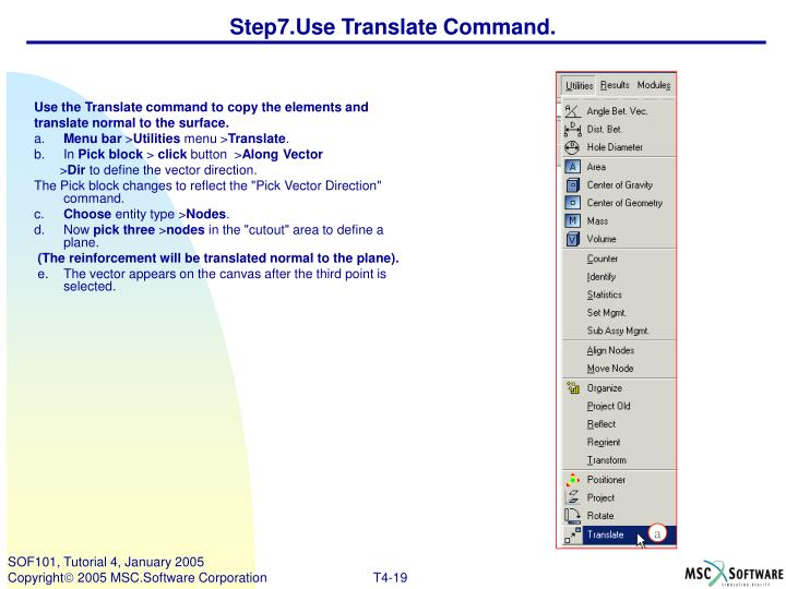 Step7.Use Translate Command.