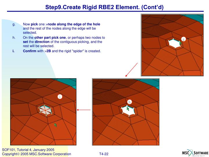 Step9.Create Rigid RBE2 Element. (Cont'd)
