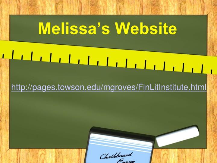 Melissa's Website