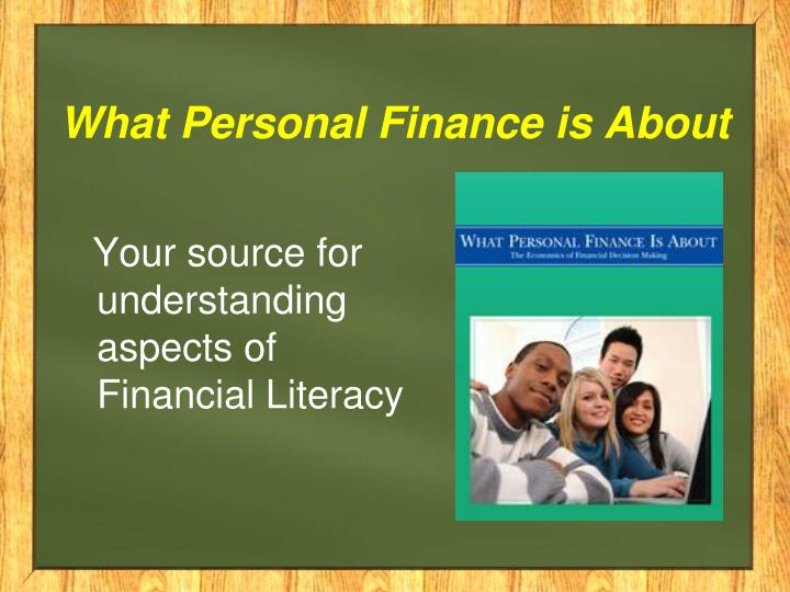 What Personal Finance is About