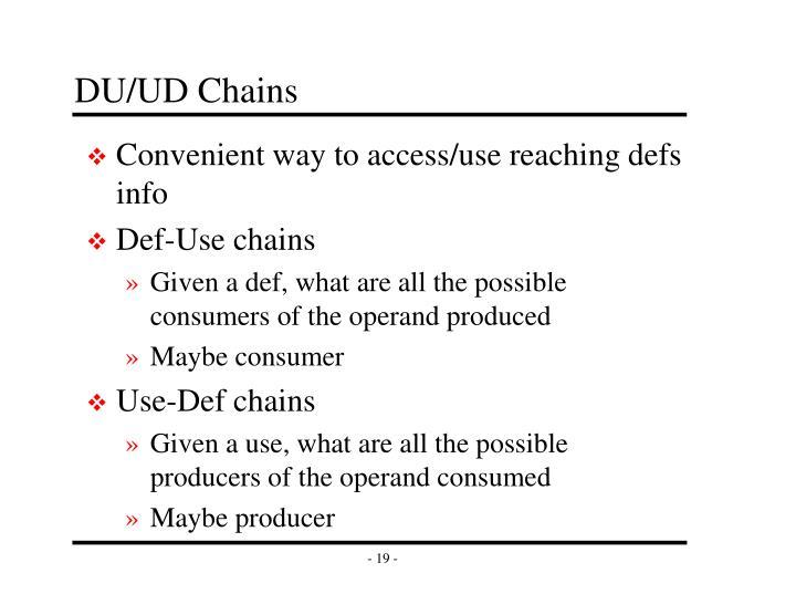 DU/UD Chains