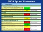 rdqa system assessment