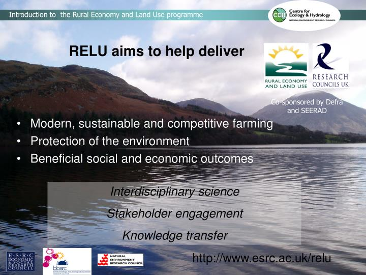 Relu aims to help deliver