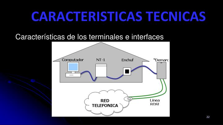 Características de los terminales e interfaces