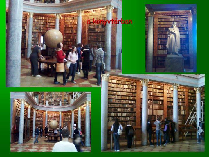 a könyvtárban