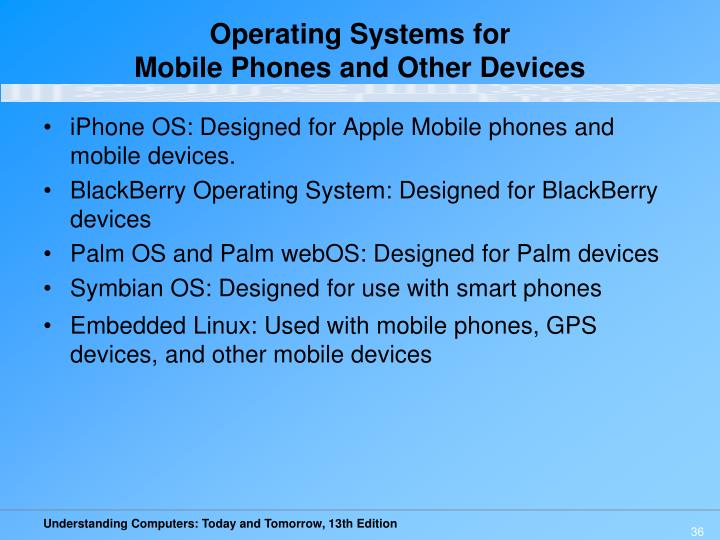 Operating Systems for