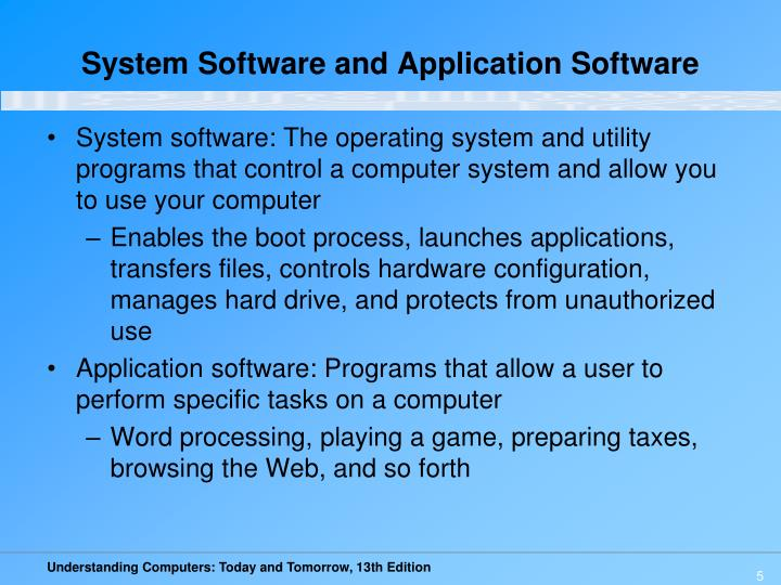System Software and Application Software