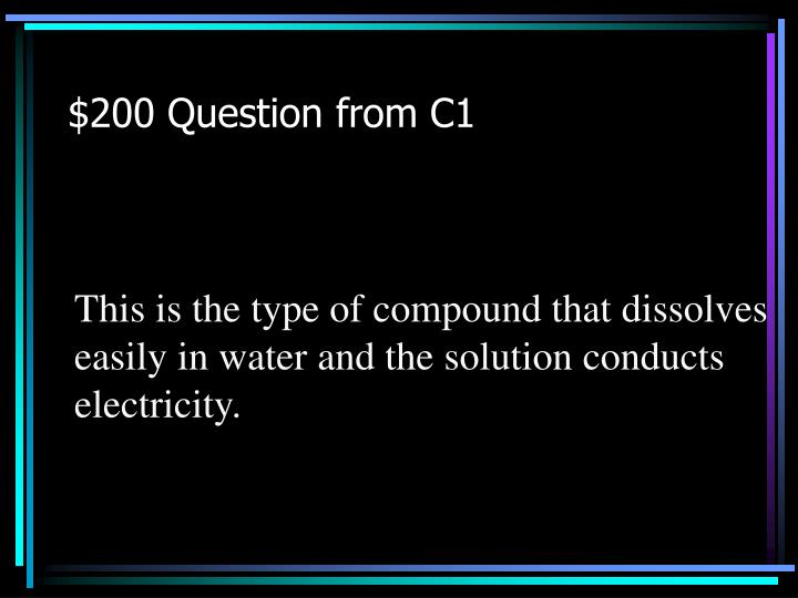 $200 Question from C1