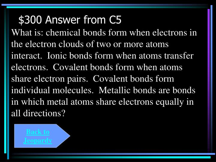 $300 Answer from C5