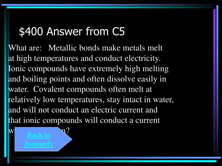 $400 Answer from C5