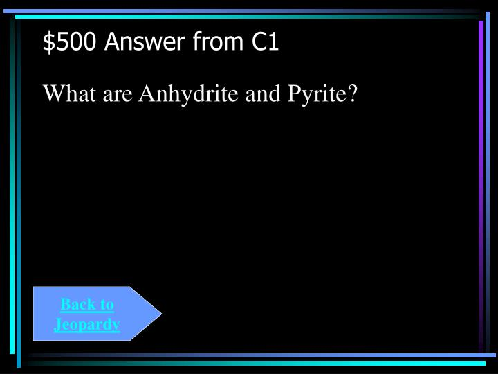 $500 Answer from C1