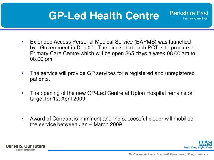 GP-Led Health Centre