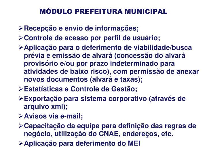 MÓDULO PREFEITURA MUNICIPAL