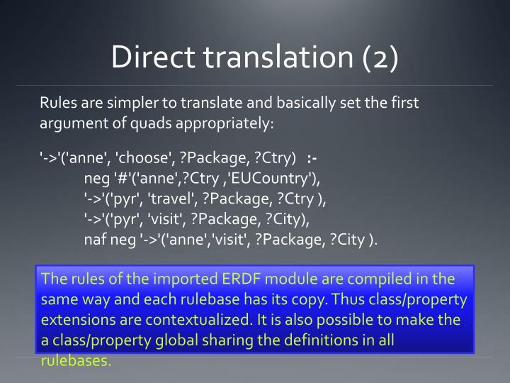 Direct translation (2)