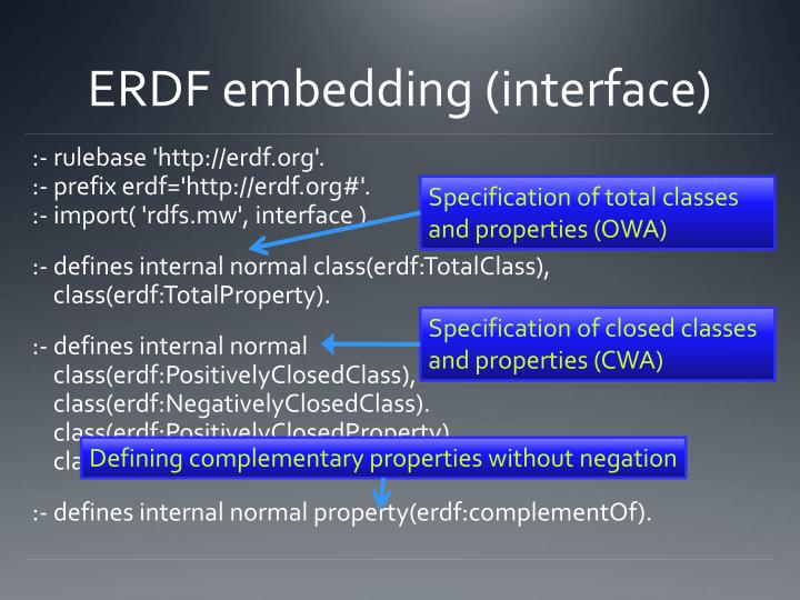 ERDF embedding (interface)