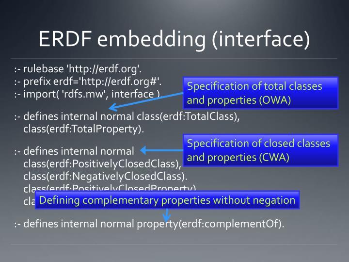 ERDF embedding (interface)
