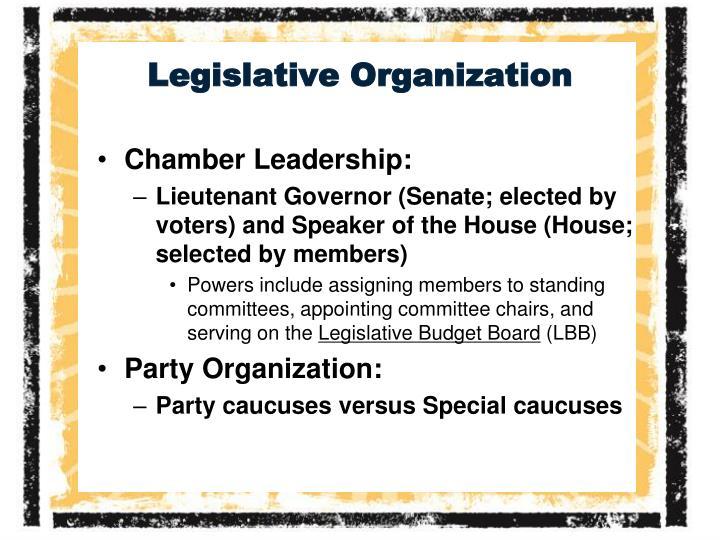 Legislative Organization