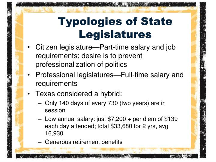 Typologies of state legislatures