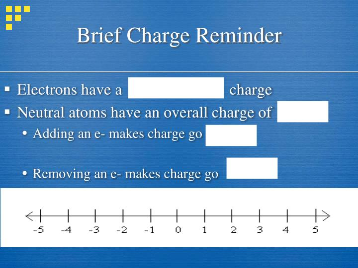 Brief charge reminder