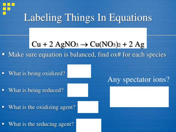 Labeling Things In Equations
