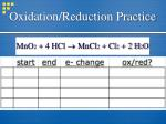 oxidation reduction practice