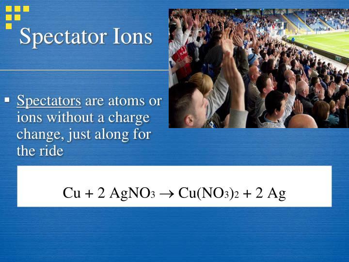 Spectator Ions