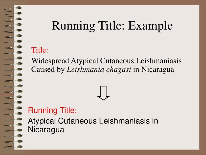 Running Title: Example