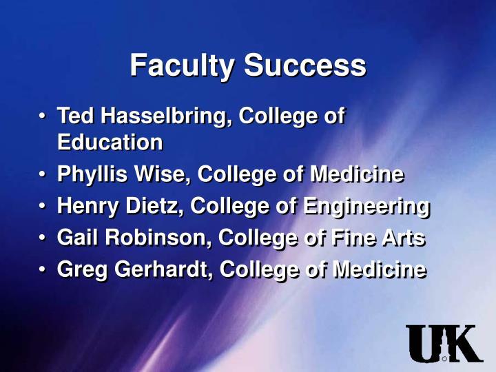 Faculty Success