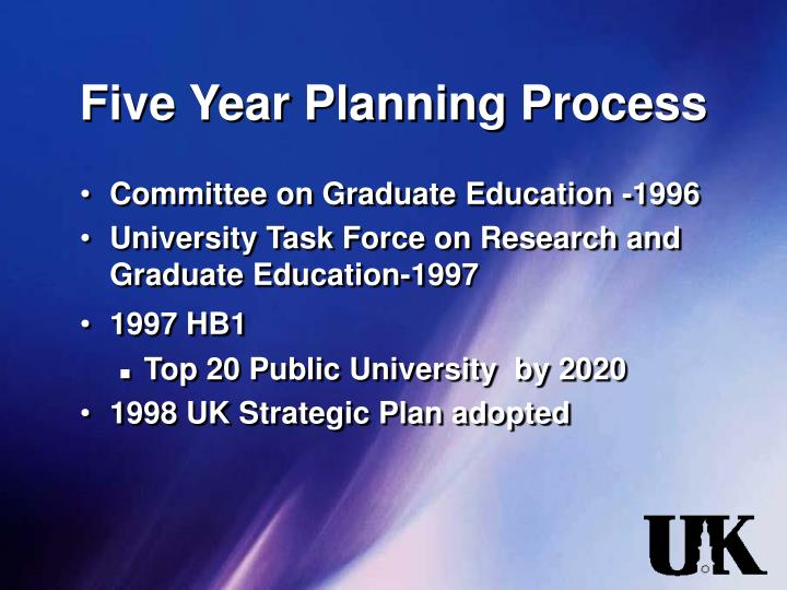 Five Year Planning Process