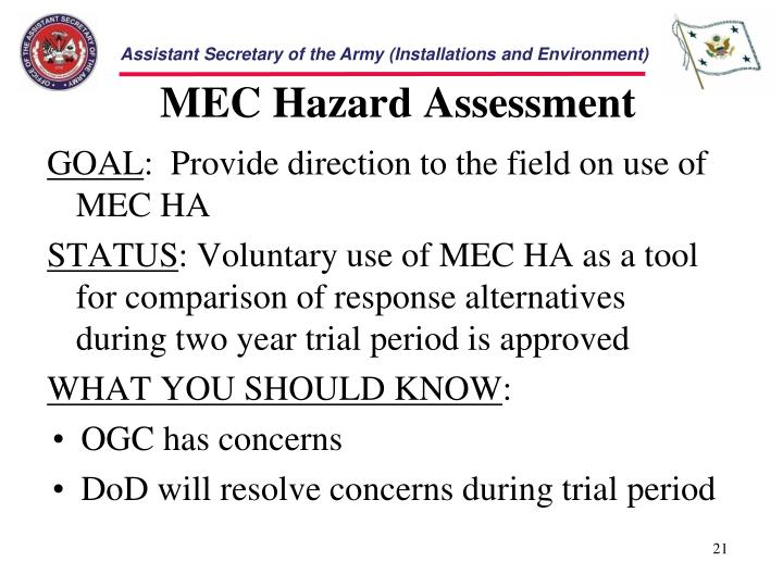 MEC Hazard Assessment