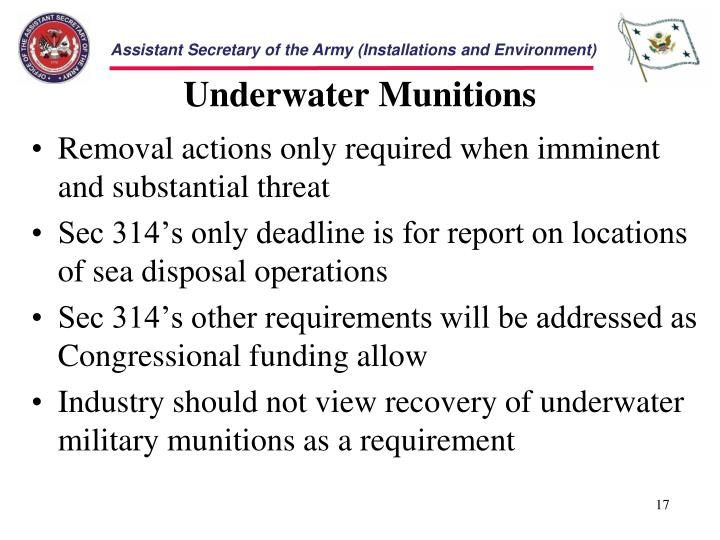 Underwater Munitions