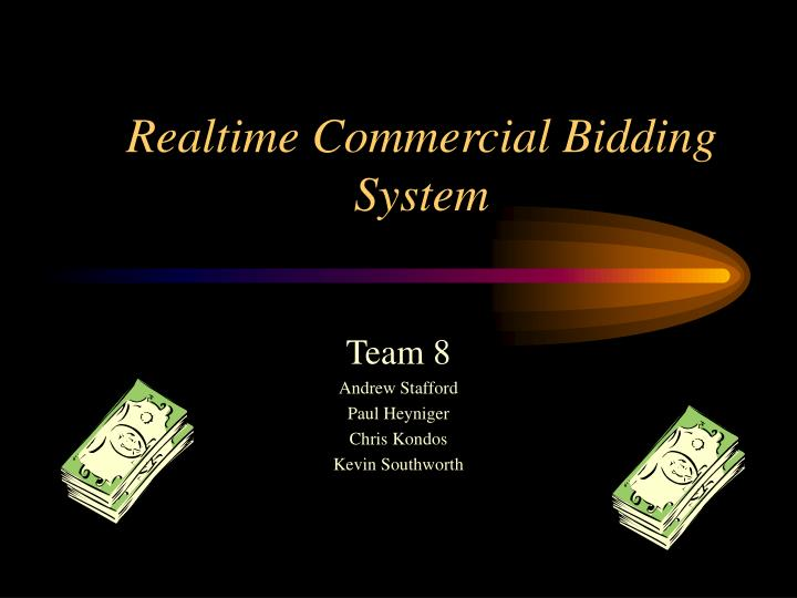 Realtime commercial bidding system
