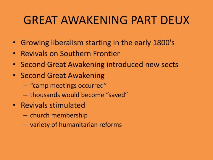 GREAT AWAKENING PART DEUX