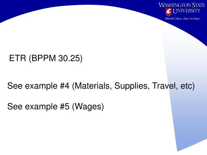 ETR (BPPM 30.25)