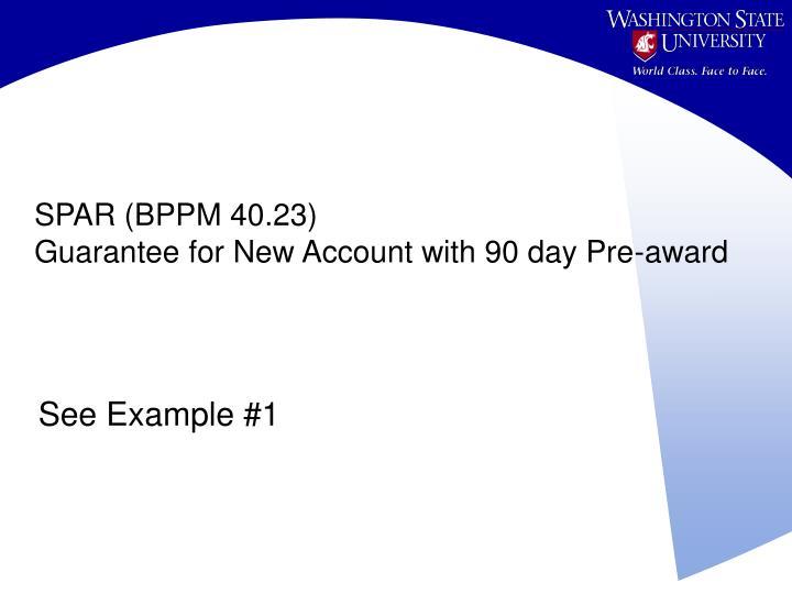 SPAR (BPPM 40.23)