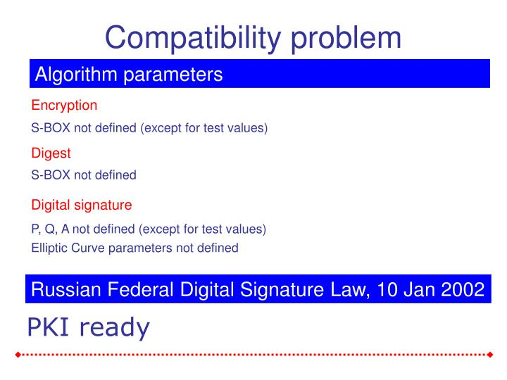 Compatibility problem