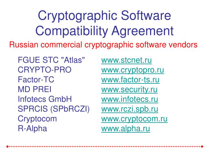 Cryptographic Software Compatibility Agreement