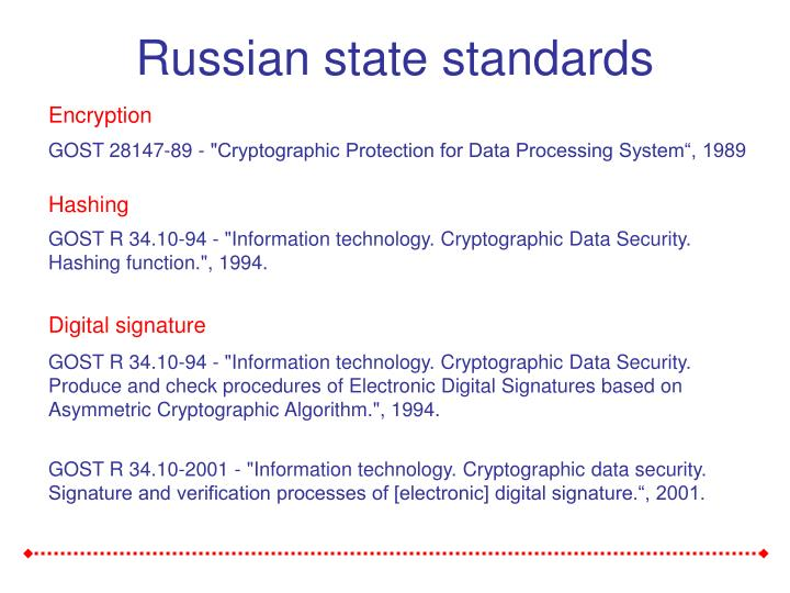Russian state standards